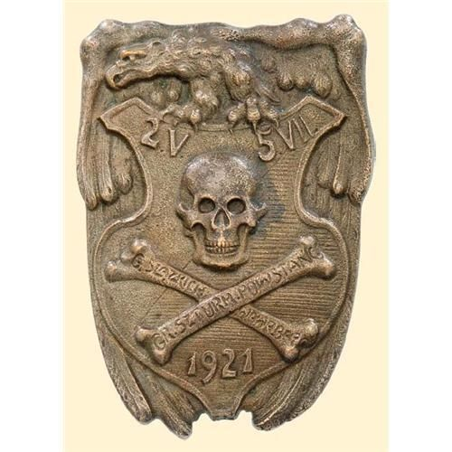 Medal - BADGES OF THE SLASK (SILESIAN) UPRISING - Wawelberg's Storm Troops of the Uprising Army 1921