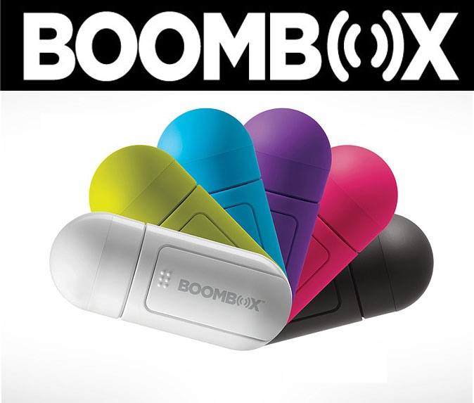Boombox V2 pocket vibration technology speaker system use with iphone ipod $49.95 each