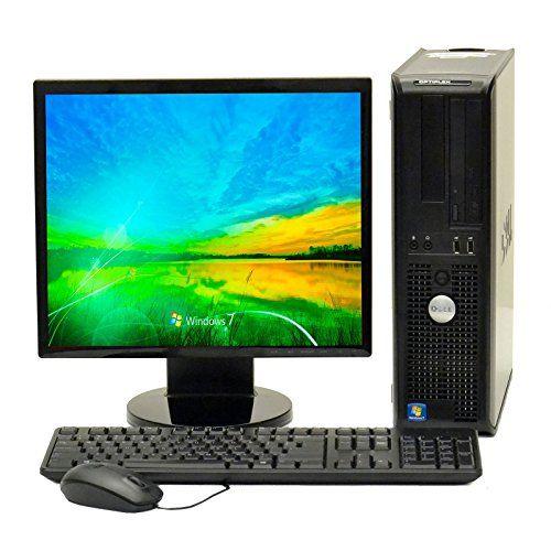 "nice Dell Desktop Core 2 Duo 2.40GHZ 4GB 250GB DVD Windows 7 PRO 64 Bit 17"" LCD+WIFI"