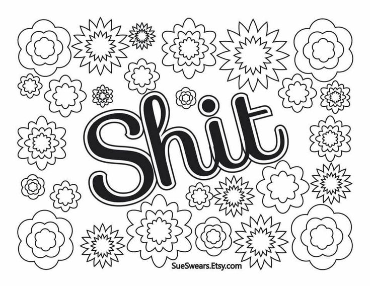 61 best adult swear words coloring pages images on Pinterest Adult - fresh www happy birthday coloring pages com