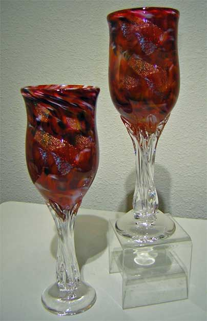 Pin by debbie dumont on art hand blown glass pinterest - Hand blown champagne flutes ...
