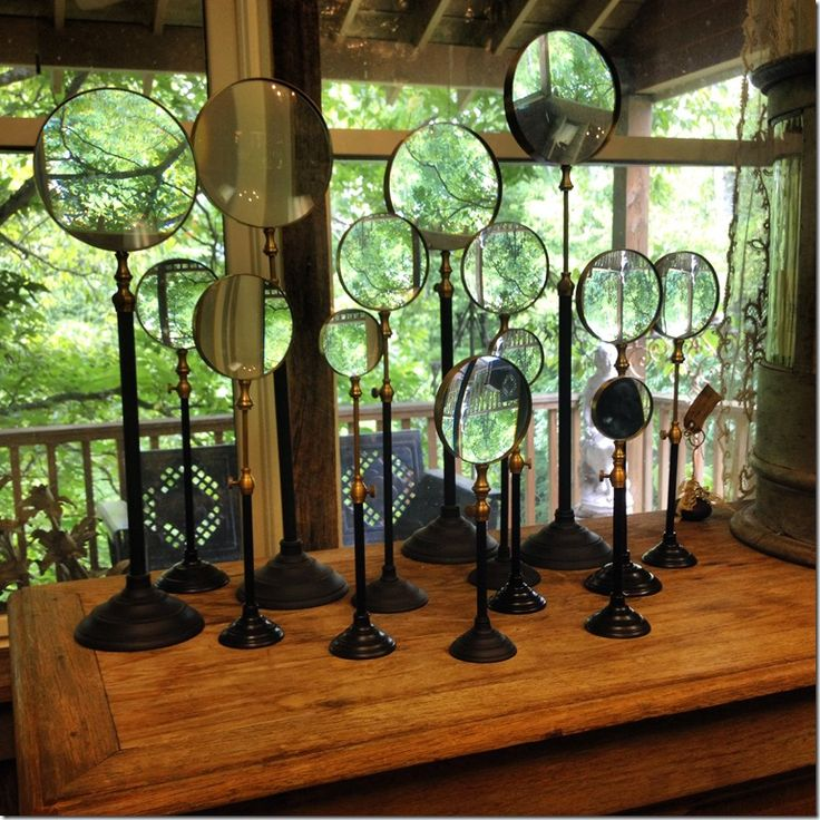 Great place to shop for treasures in Nashville, Serenite Maison in Leiper's Fork... Love these looking glasses!