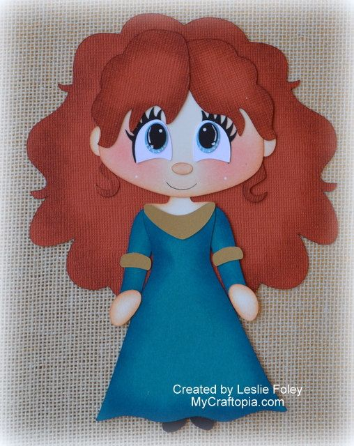 Disney Princess Merida Brave Premade Scrapbooking by MyCraftopia