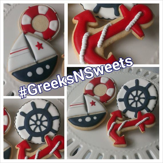 Nautical Themed cookies Sailor/Baby Shower ... by GreeksNSweets, $26.00