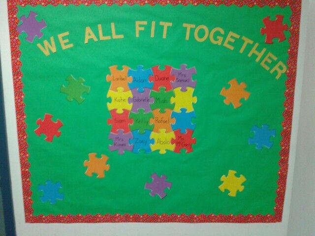 Puzzle Bulletin Board Preschool Fun Puzzle Bulletin
