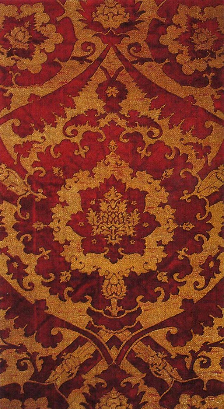 Cut velvet...brocaded. Venice, last quarter 15th century.  Firenze, Museo Nazionale del Bargello