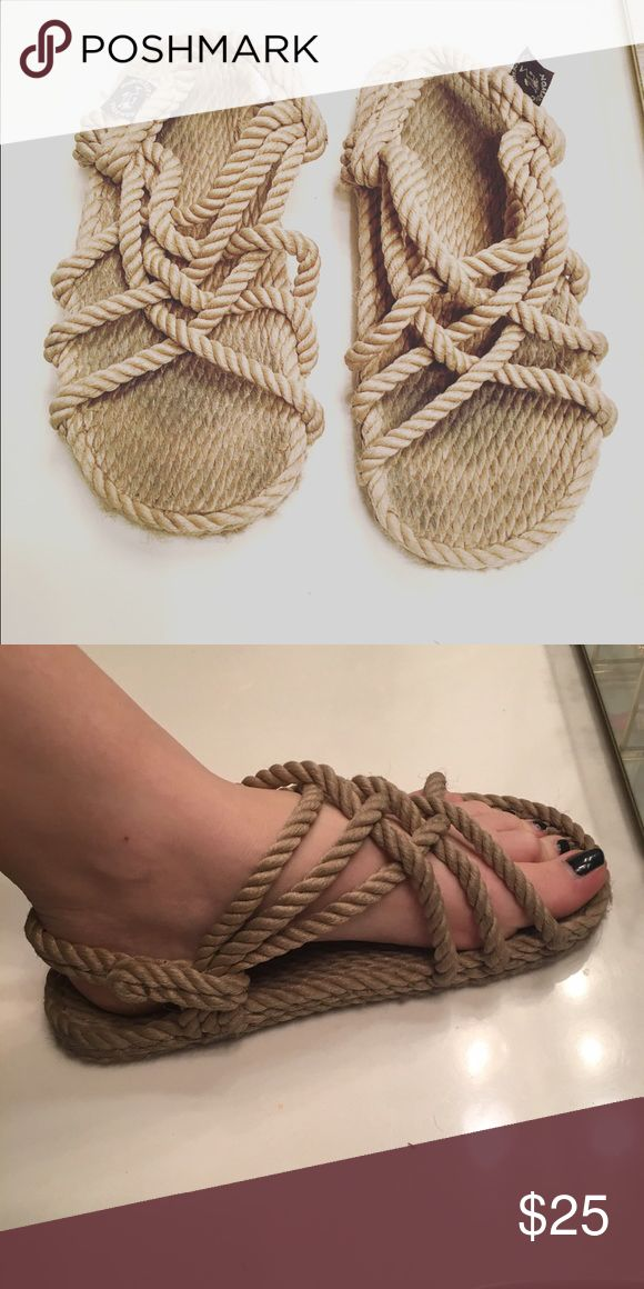 Jesus Rope Sandals Can adjust the back strap, few signs of wear, Rope material, worn twice, great for costumes or everyday wear Nomadic State of Mind Shoes Sandals