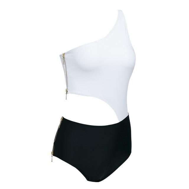2bf0ffb4c227c Ashoreshop push up bikini 2019 Lace up swimwear women Zipper swimsuit – ASHORE  SHOP