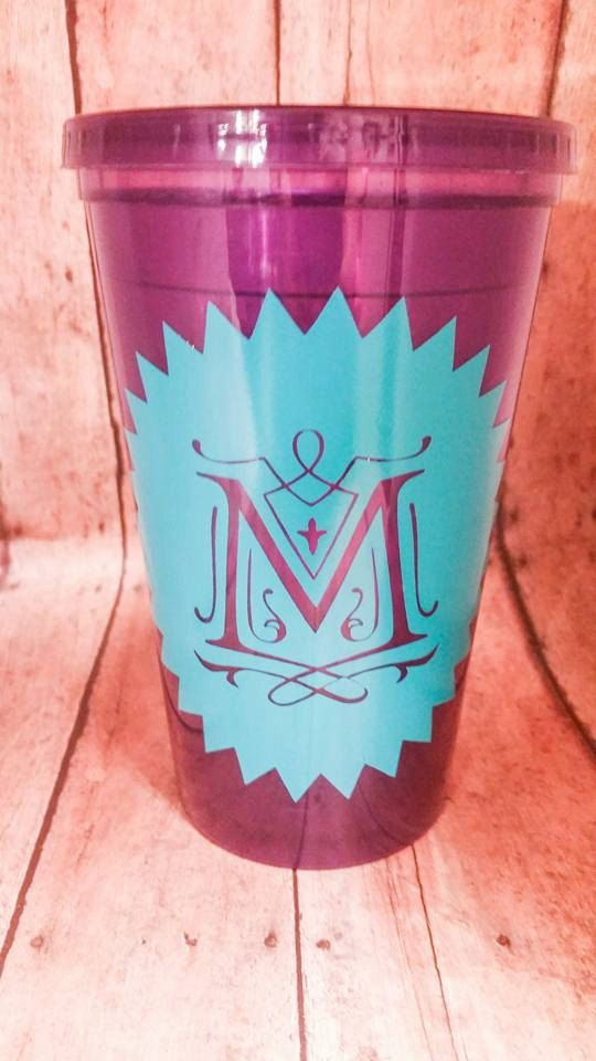 Personalized Tumbler, Monogram cup with straw, #weddings #decoration @EtsyMktgTool http://etsy.me/2agk5yW