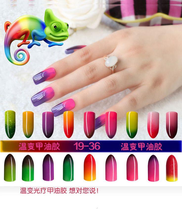 10ml Chameleon Temperature Change Nails Gelpolish Color Changing Nail Polish 36 Colors UV Gel Varnish Soak-off UV&LED Gel #clothing,#shoes,#jewelry,#women,#men,#hats,#watches,#belts,#fashion,#style