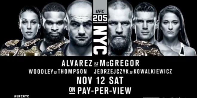 UFC 205 Fight Card