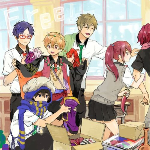 Rei, Nagisa, Makoto, Haru, Gou, and Rin ~ Free