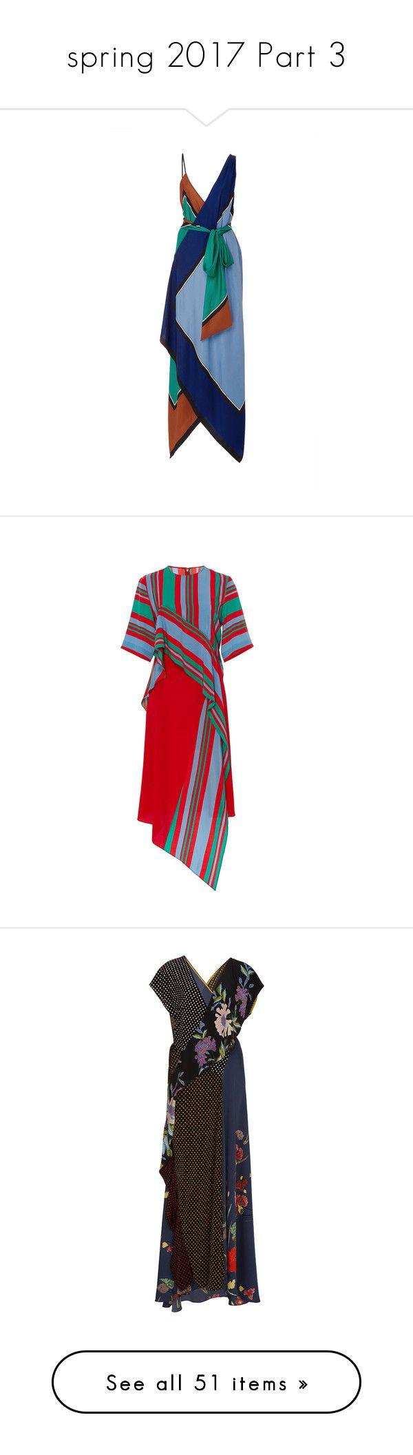 """""""spring 2017 Part 3"""" by jckyleeah ❤ liked on Polyvore featuring springsummer2017, dresses, diane von furstenberg, blue, white midi dress, tiered dress, diane von furstenberg dress, midi dress, low v neck dress and stripe"""