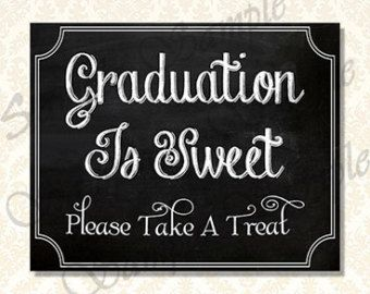 Graduation Is Sweet Candy Bar Sign Class of 2016 by JusPrintables