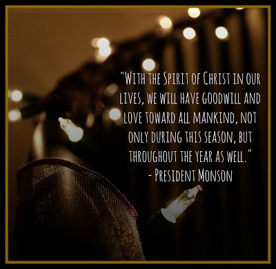 Christmas Quote By LDS President Monson