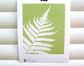 Green Fern Leaf Botanical Papercut Art Print from KitzieG on Etsy $22