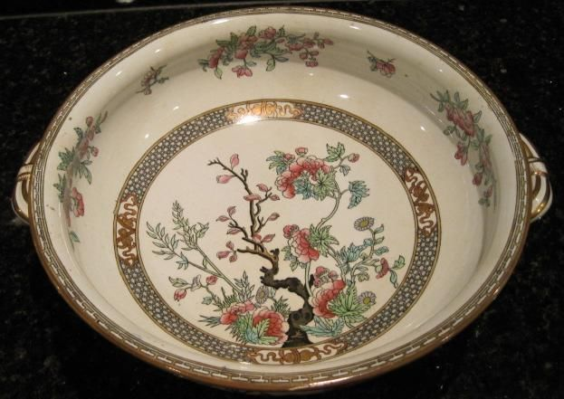 Antique Indian Tree Soup Tureen Minton China Trees