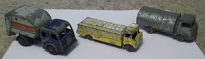 MOKO LESNEY REFUSE COLLECTION LORRYS AND CEMENT LORRY. - http://www.matchbox-lesney.com/?p=2871