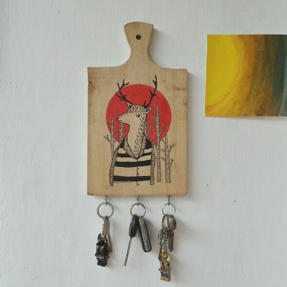 Key holder with original artwork by mawan malvin