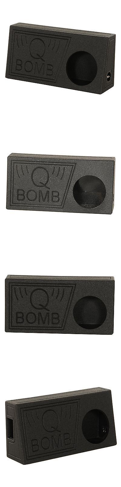 Speaker Sub Enclosures: Q Power Qbomb Single 10 Inch Vented Subwoofer Sub Box With Black Bedliner Spray -> BUY IT NOW ONLY: $59.95 on eBay!