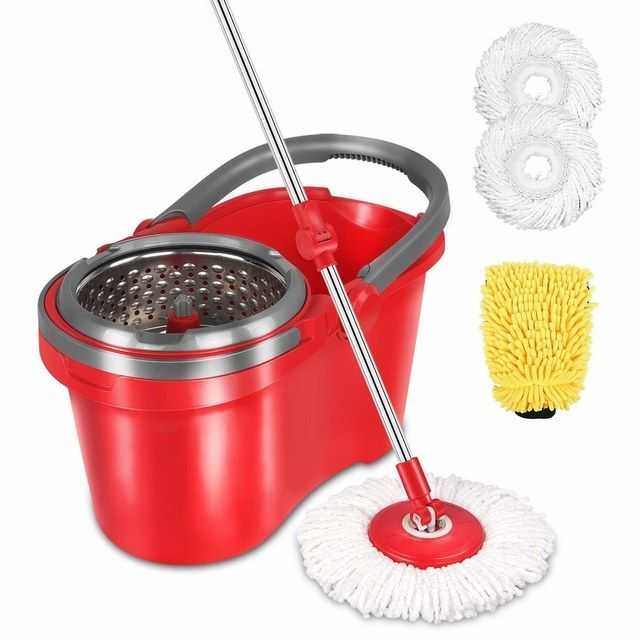 12 Amazon Buys That Will Make It Way Easier To Clean Your House Spin Mop Microfiber Mops Clean Kitchen Floor