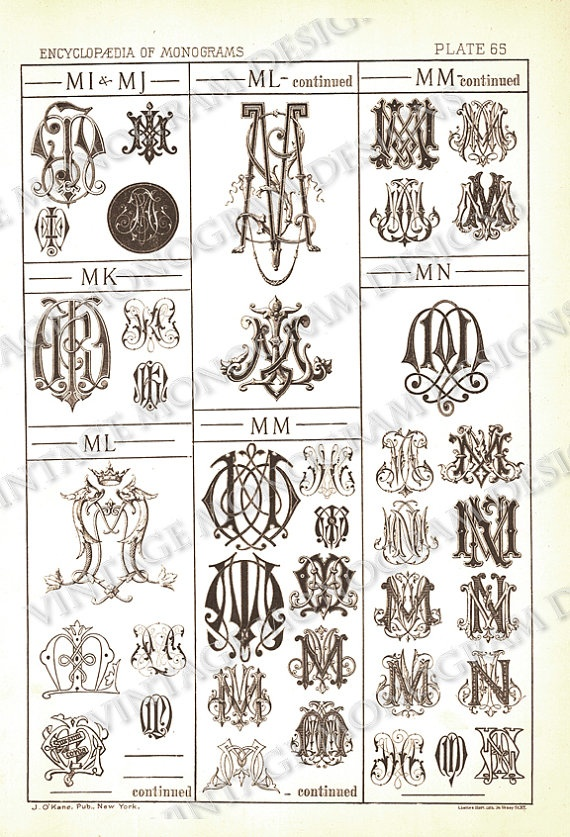 Tattoo Initials Mn: 1940 Best Monograms Images On Pinterest