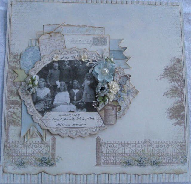 Scrapchallenge with Vintagetheme for Artastic Challenge blog. #vintagegarden #piondesign by Helena Wikman