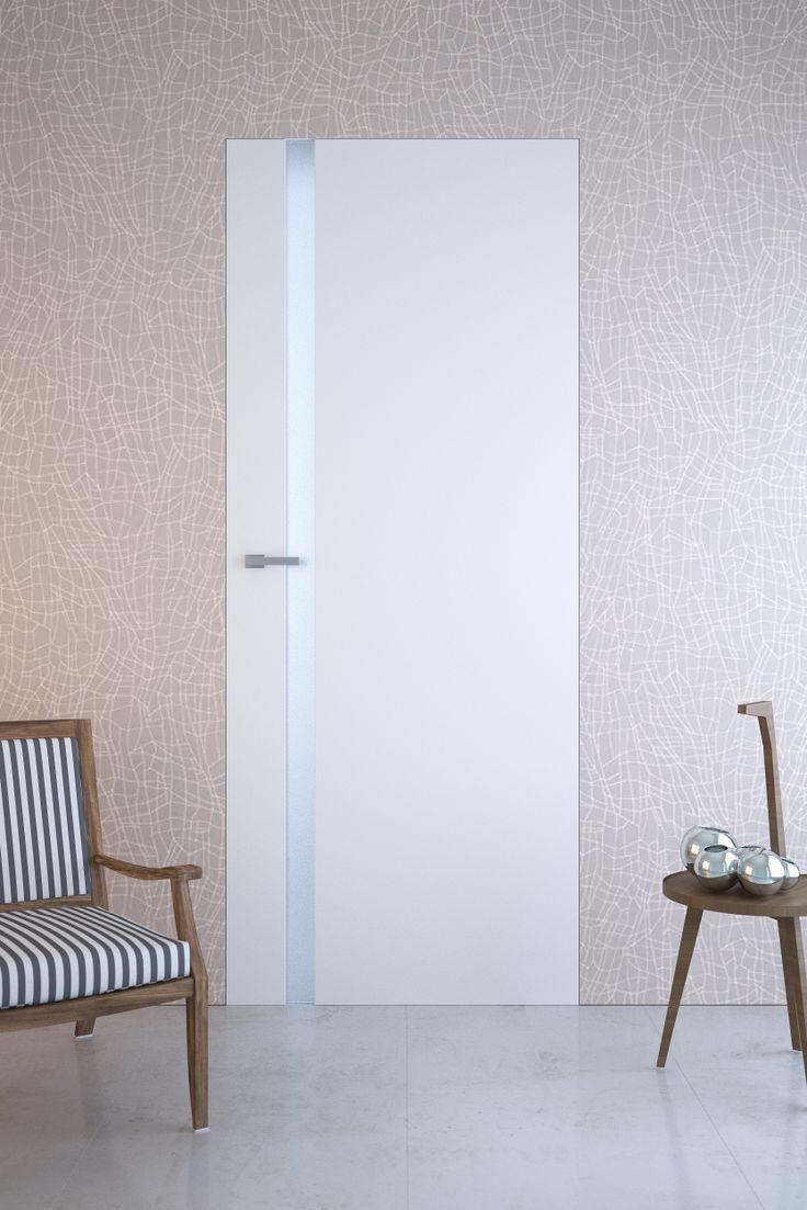 Pertini 6 - White doors with hidden frame.