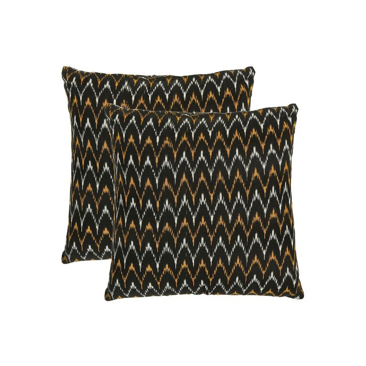 Ryder 2-piece 18'' x 18'' Throw Pillow Set, Black