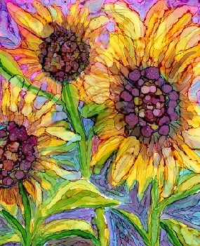 """Sunflower 2"" - Original Fine Art for Sale - © Kristen Dukat"