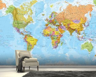 Enjoy A World Map Wallpaper Murals In A Variety Of Styles. From Stylised  Typographic Maps To Ancient World Maps, Our Wallpaper Murals Are Made To  Measure ...
