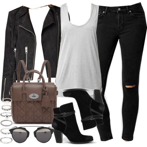 Style #9104 by vany-alvarado on Polyvore featuring AllSaints, Mulberry, Forever 21 and Christian Dior