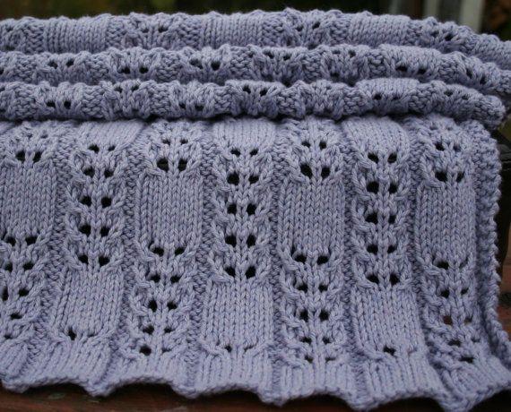 Baby Blanket Knitting pattern by AmandaLilleyDesigns on Etsy