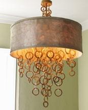 H3YS6 Janice Minor Golden Rings Chandelier: Idea, Keys Rings, Janic Minor, Rings Chandeliers, Diy Lights, Gold Rings, Design, Minor Golden, Golden Rings