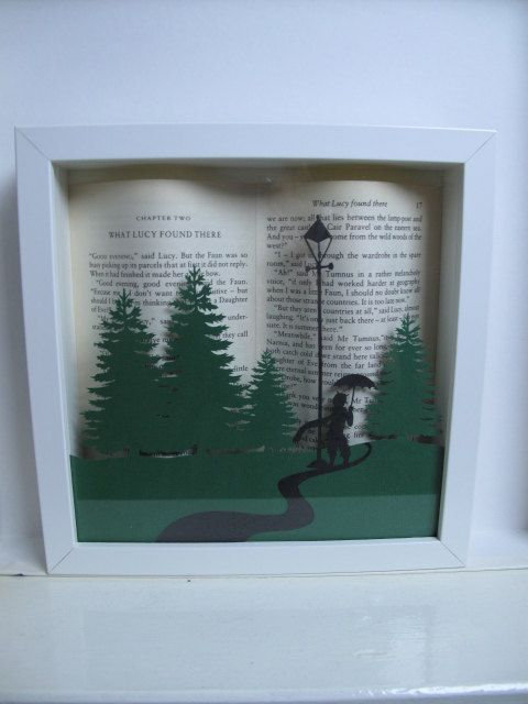 A really lovely gift for a fan of the childrens story The Lion, the Witch and the Wardrobe or beautiful piece to decorate a nursery. This is a shadow