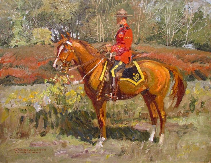Mounted Mountie painting