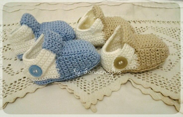 Crocheted booties ....made from Indonesia cord yarn