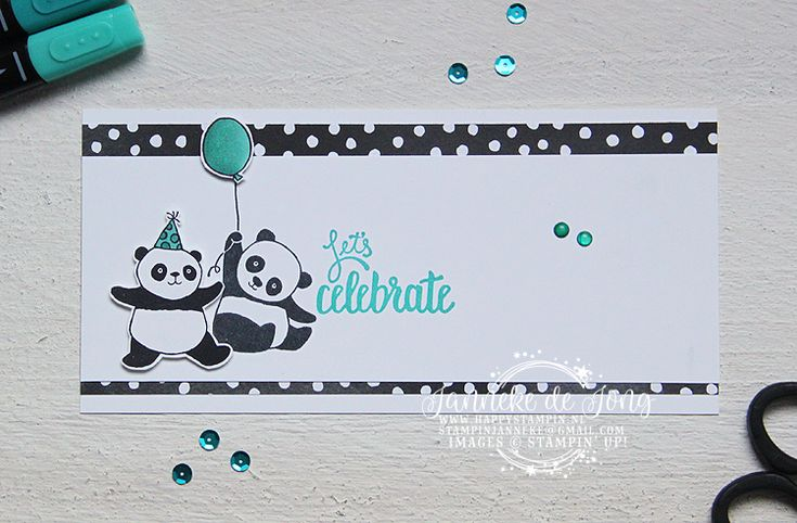Stampin' Up! - Happy Stampin' - Janneke de Jong - Party Pandas