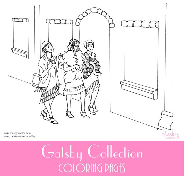 coloring pages 1920s - photo#14