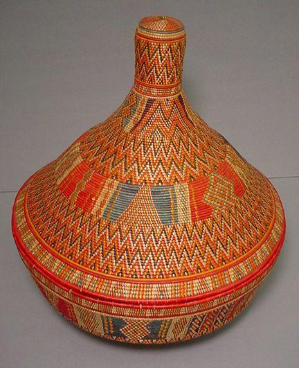 Harari, Harar, Ethiopia, East Africa. ca. 1964. Materials: grasses, dyes