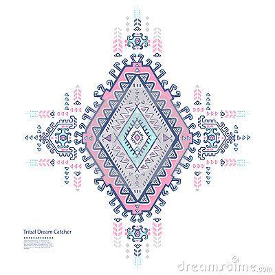 Мексиканский племенного вектора этнический, африканский орнамент