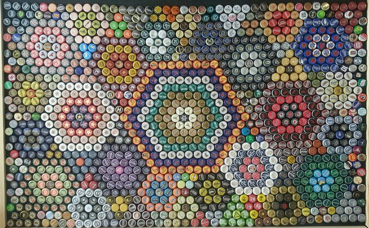 Mosaic Bottle cap table I have for sale.