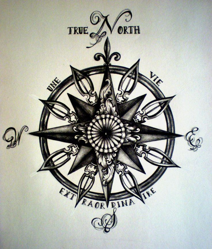 Compass Tattoo I Really Like The Quote, But I'm Not French