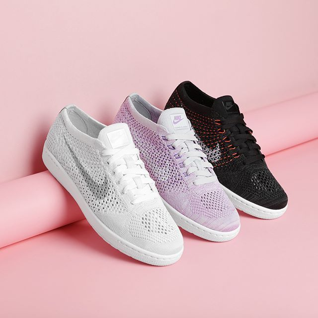 NIKE TENNIS CLASSIC ULTRA FLYKNIT Inspired by court cushioning, the Nike Tennis Classic Ultra gets an updated Flyknit upper for the new season. Available now! #SupplyingGirlsWithSneakers