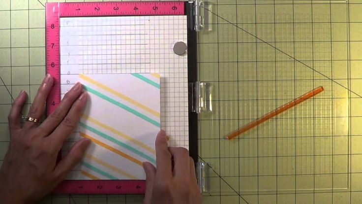 A card tutorial that shows how to make a background with a border stamp.