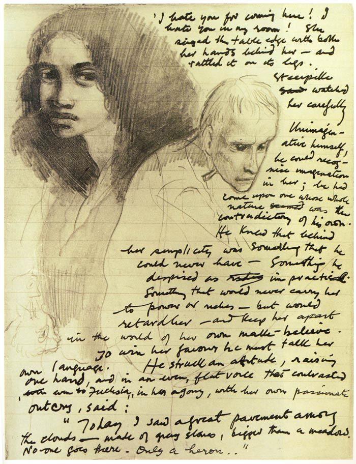 Fuchsia and Steerpike, from Mervyn Peake's Titus Groan.