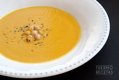 Crema de garbanzos y zanahorias - http://www.thermorecetas.com/2014/08/01/crema-de-garbanzos-y-zanahorias/