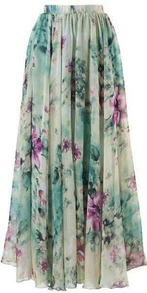 Maxi skirt floral
