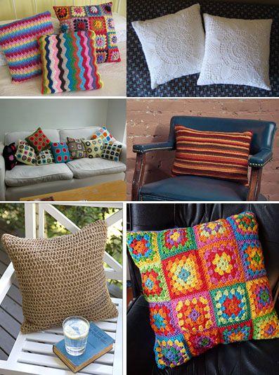almofadas coloridas: