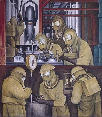 Detroit Industry, north wall (detail), Diego Rivera, 1932-33, fresco.